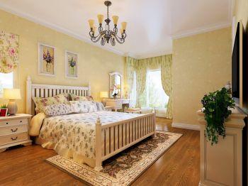 卧室灯具田园风格装潢效果图