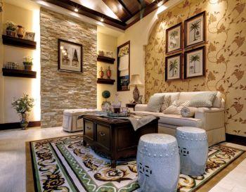 客厅背景墙欧式风格装饰设计图片
