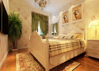 卧室窗帘欧式田园风格装饰效果图