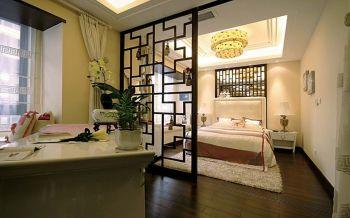 卧室隔断中式风格装修设计图片