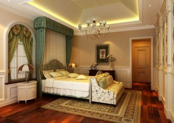 卧室地板砖欧式田园风格装饰效果图