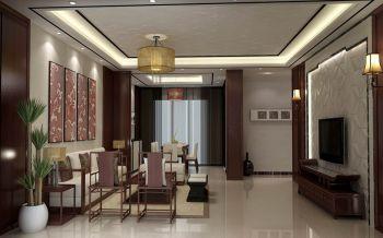 新中式风格120平米3房1厅房子装饰效果图