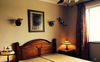 卧室黄色背景墙地中海风格装饰图片