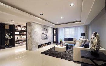 现代简约风格90平米2房1厅房子装饰效果图