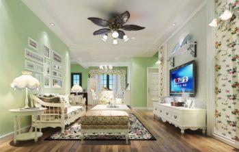 清新田园风格90平米2房1厅房子装饰效果图