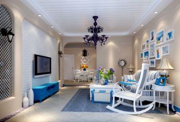 地中海风格80平米2房1厅房子装饰效果图