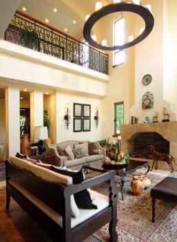 客厅灯具美式风格装修设计图片