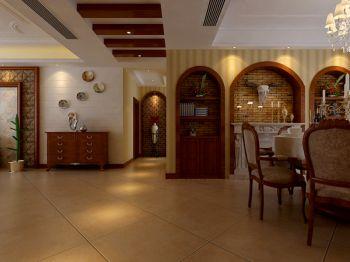 餐厅黄色地砖美式风格装潢效果图