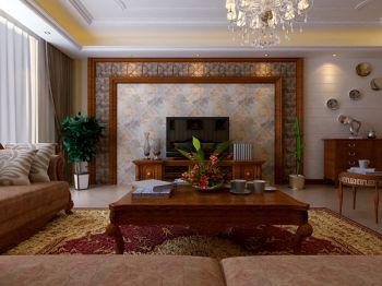 美式风格120平米3房2厅房子装饰效果图