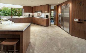 厨房白色吧台混搭风格装潢设计图片