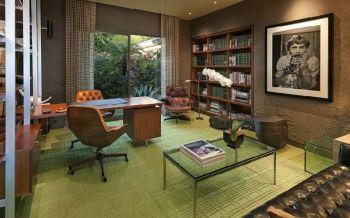 书房窗帘混搭风格装修效果图