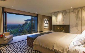 卧室白色窗帘混搭风格装潢效果图
