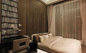 卧室窗帘古典风格装修图片