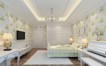 儿童房背景墙简欧风格装饰设计图片