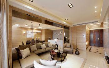 现代简约混搭日式风格150平米4房1厅房子装饰效果图