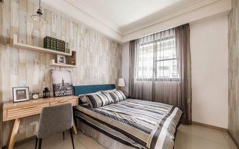 儿童房灰色窗帘现代简约风格装潢图片