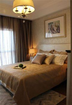 卧室灯具美式风格装修图片