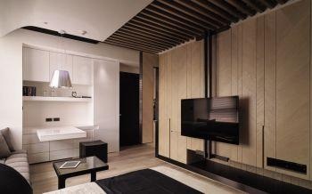 现代简约风格50平米1房2厅房子装饰效果图
