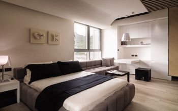 卧室隔断现代简约风格装饰设计图片