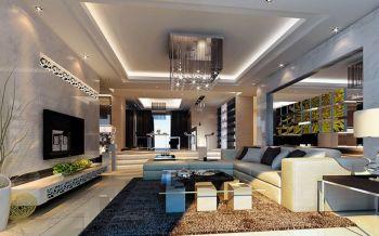 现代风格120平米三房一厅新房装修效果图