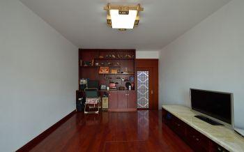 书房红色地板砖现代风格装饰设计图片