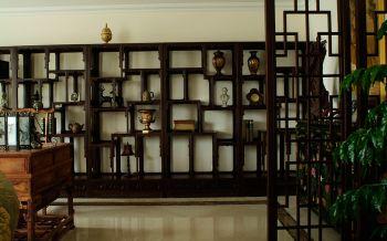 书房黑色博古架混搭风格装修设计图片