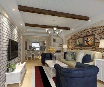 地中海风格87平米套房新房装修效果图