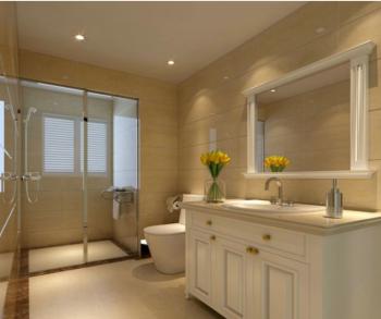卫生间黄色背景墙地中海风格装修效果图