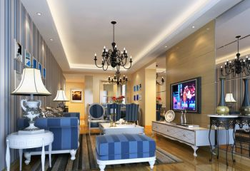 2019现代欧式70平米设计图片 2019现代欧式二居室装修设计