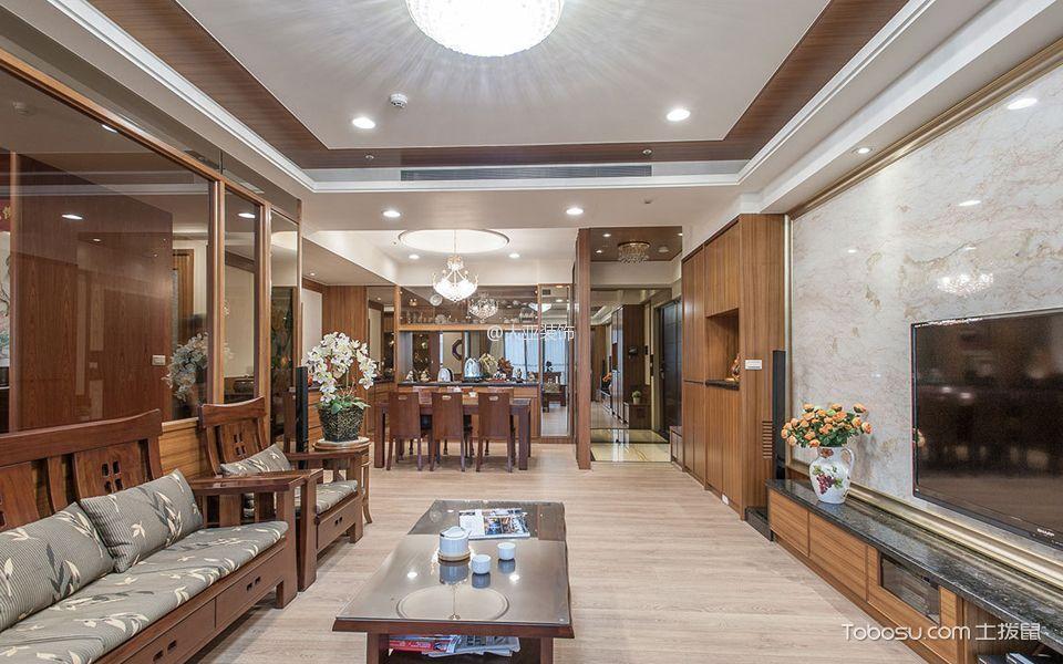 2021现代中式110平米装修设计 2021现代中式套房设计图片