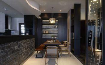 餐厅米色灯具现代简约风格装潢图片