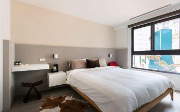 卧室白色床头柜现代简约风格装潢图片