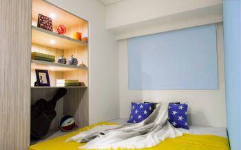 儿童房白色榻榻米现代简约风格装潢设计图片