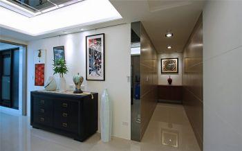 玄关白色地板砖现代风格装修效果图