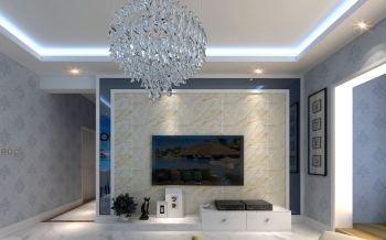 客厅白色灯具现代风格装修效果图