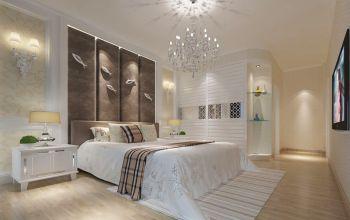 卧室白色灯具现代风格装潢效果图