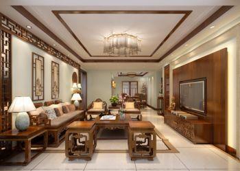 中式风格153平米三房一厅新房装修效果图