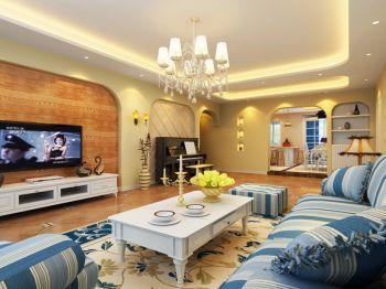 地中海风格100平米3房1厅房子装饰效果图