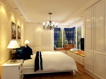 卧室黄色榻榻米地中海风格装潢效果图
