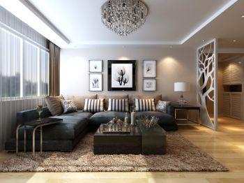 简约风格100平米2房1厅房子装饰效果图
