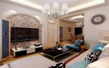 现代简约风格80平米2房1厅房子装饰效果图