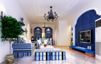 地中海风格90平米两室两厅新房装修效果图