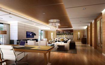 现代中式风格180平米三室两厅新房装修效果图