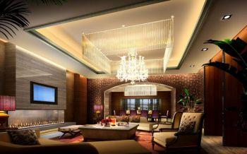 客厅灯具现代中式风格装潢图片