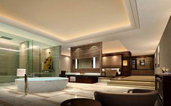 卫生间地板砖现代中式风格装修设计图片