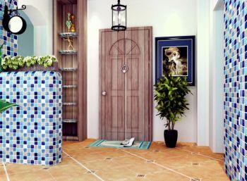 玄关背景墙地中海风格装潢设计图片