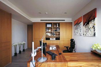书房现代简约风格装修设计图片
