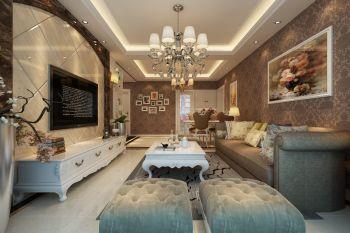 客厅灯具简欧风格装修设计图片