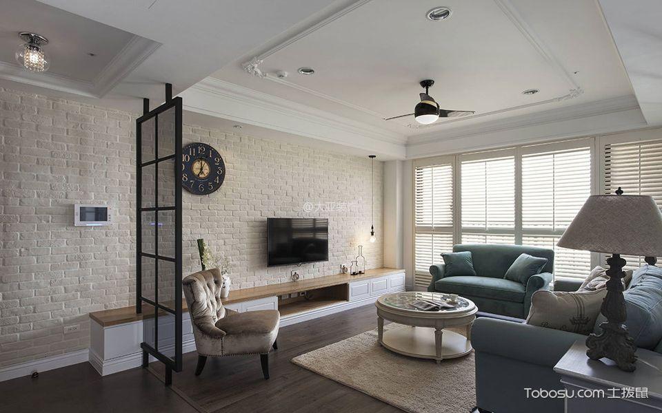 客厅 背景墙_北欧风格100平米三房一厅新房装修效果图