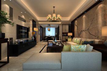 新中式风格180平米四房一厅新房装修效果图